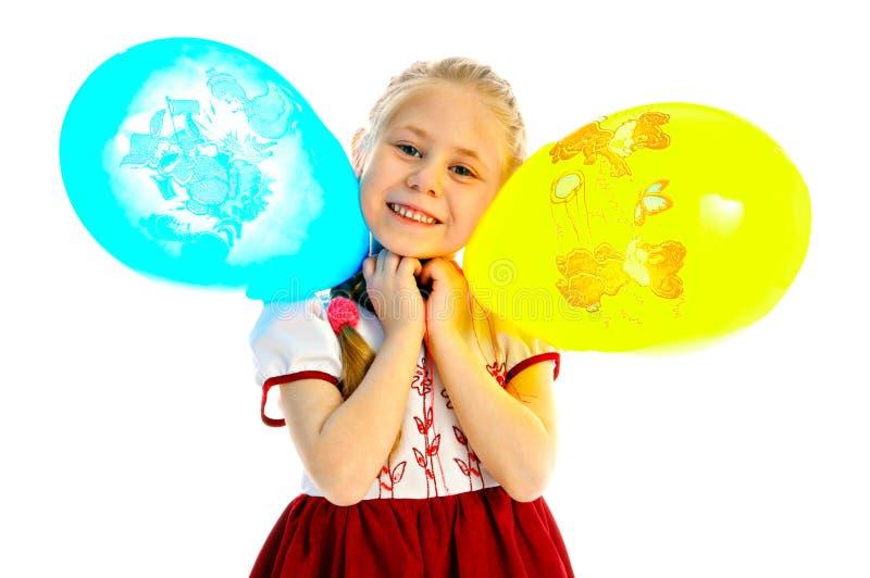 Girlie z balonem obrazy stock