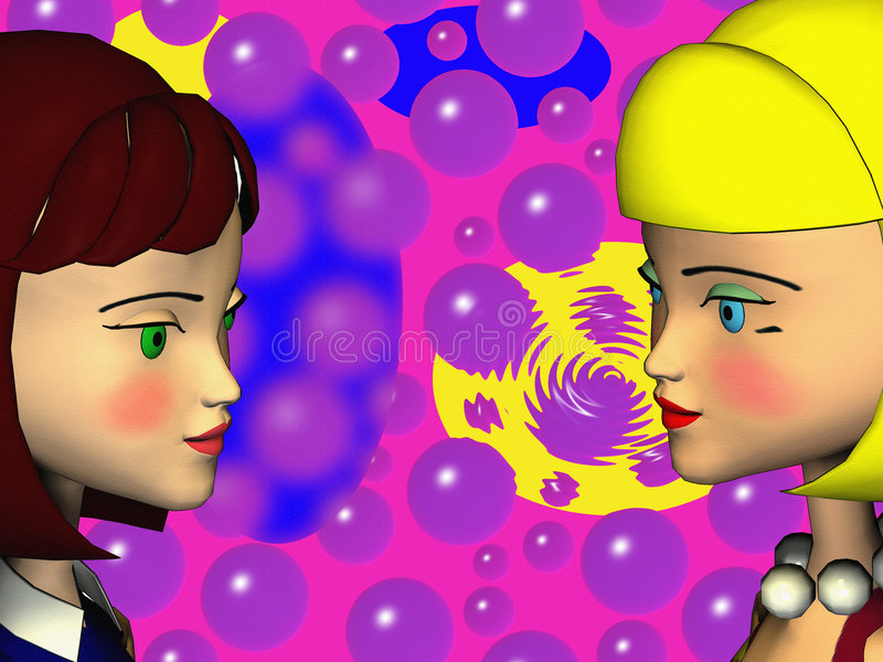 Girls vector illustration