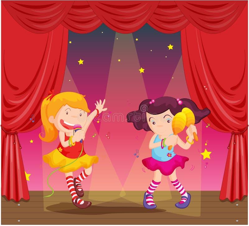 Girls royalty free illustration