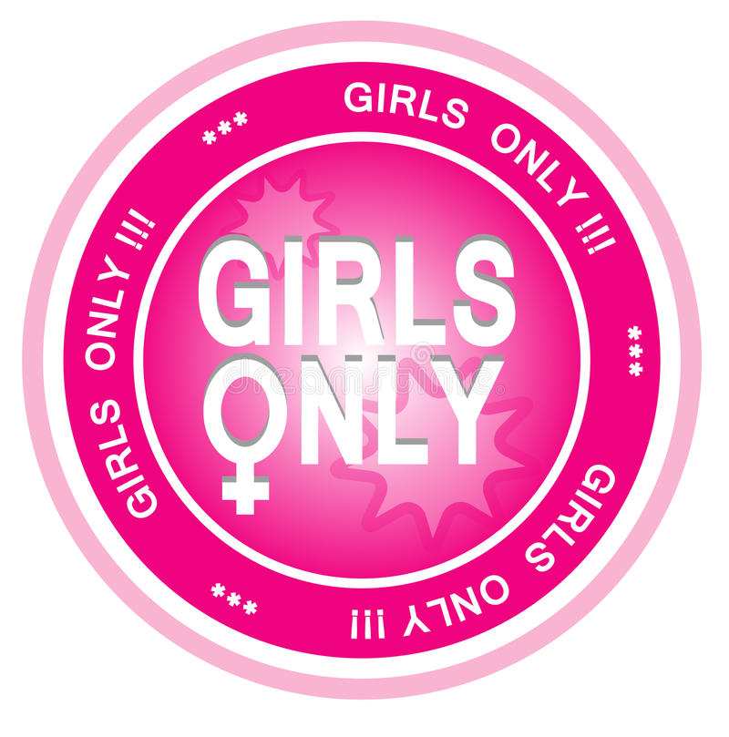 Girls Only Stock Photo