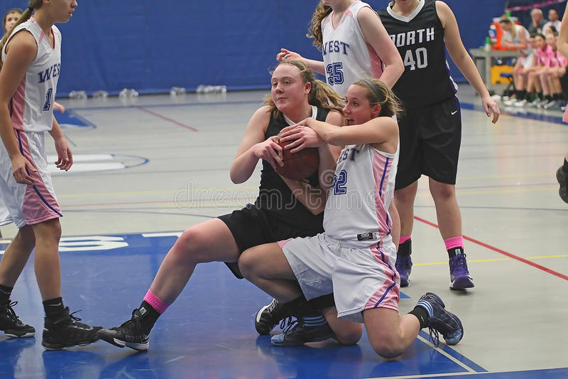Download Girls Basketball Action editorial stock image. Image of school - 29530814