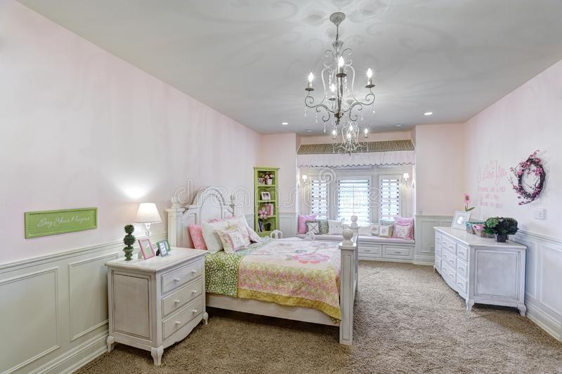 A Girls Bedroom In A Modern Upscale Home. Editorial Image ...