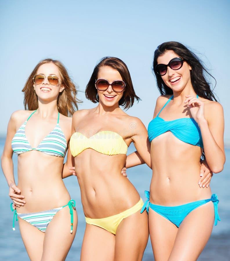 Download Girls In Bikini Walking On The Beach Stock Photo - Image: 33338162