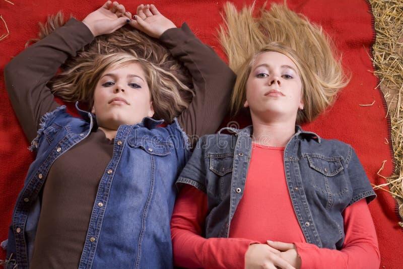 Download Girls on blanket looking stock image. Image of blanket - 12029579