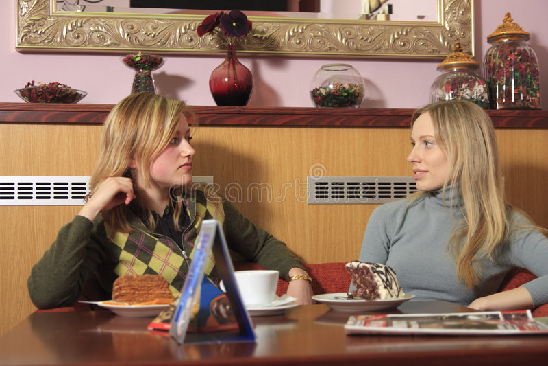 Girls in cafe