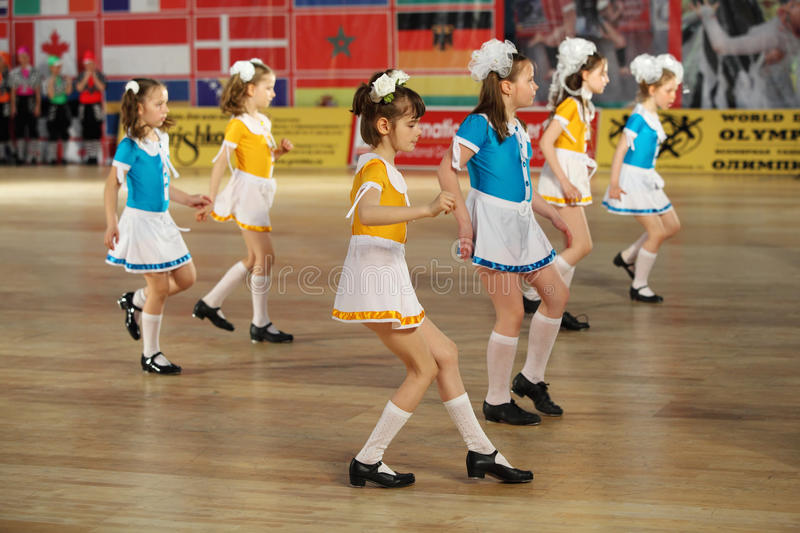 Download Girls Dance Step At IX World Dance Olympiad Editorial Photography - Image of hobby, caucasian: 23238022