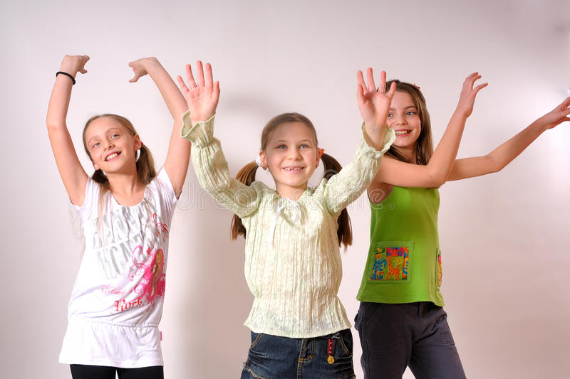 Girls dancing royalty free stock photos
