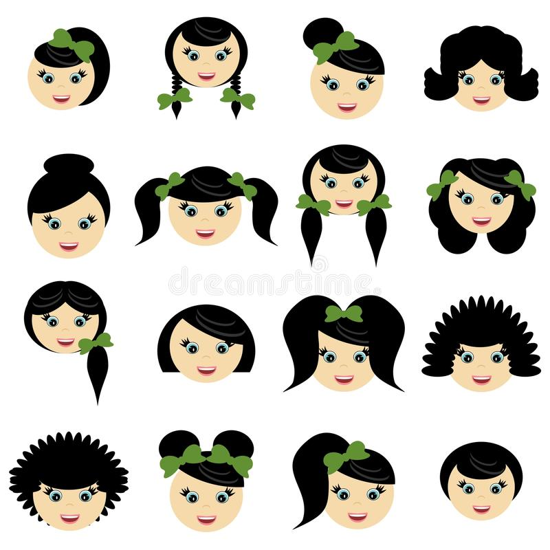 Download Girls With Different Hair Styles Stock Photo - Image: 19817010
