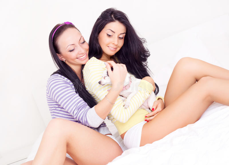Download Girls With A Dog Stock Photos - Image: 17551173