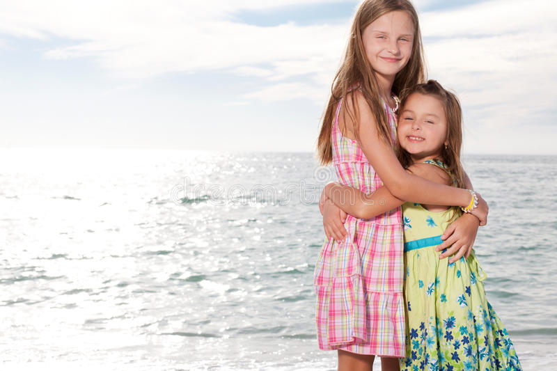 Download Girls Enjoy Summer Day At The Beach. Stock Photo - Image: 22708018