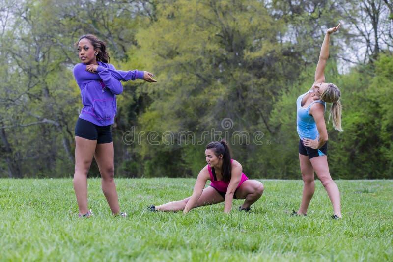 3 Girls Enjoying The Park stock photo