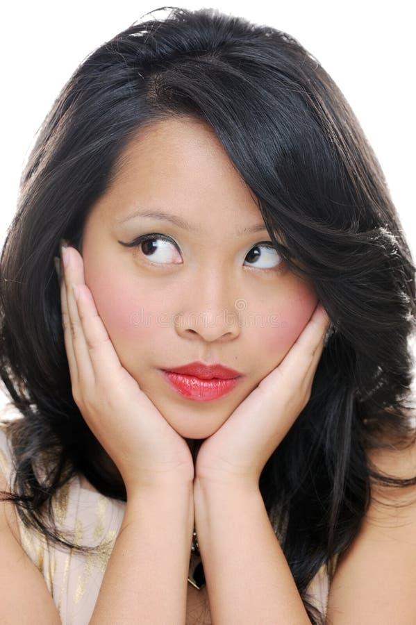 Girls face closeup stock image