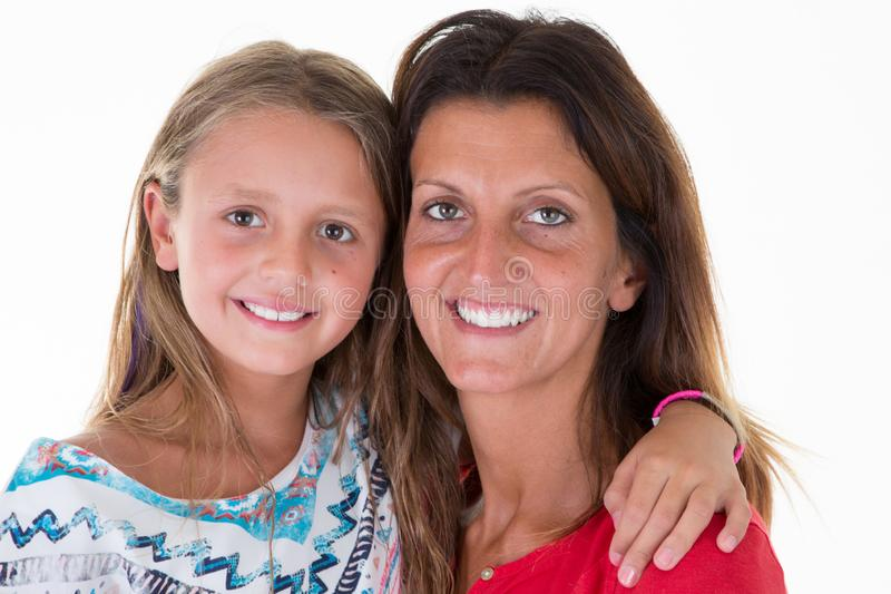 girls family mother daughter cute and beautiful portrait stock image
