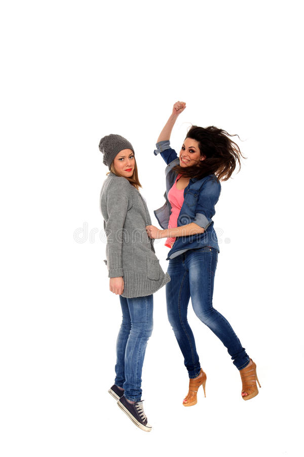 Download Girls fight stock image. Image of friends, female, jumping - 23013733