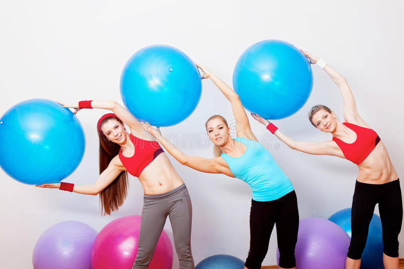 Download Girls on fitness training stock image. Image of person - 24342123