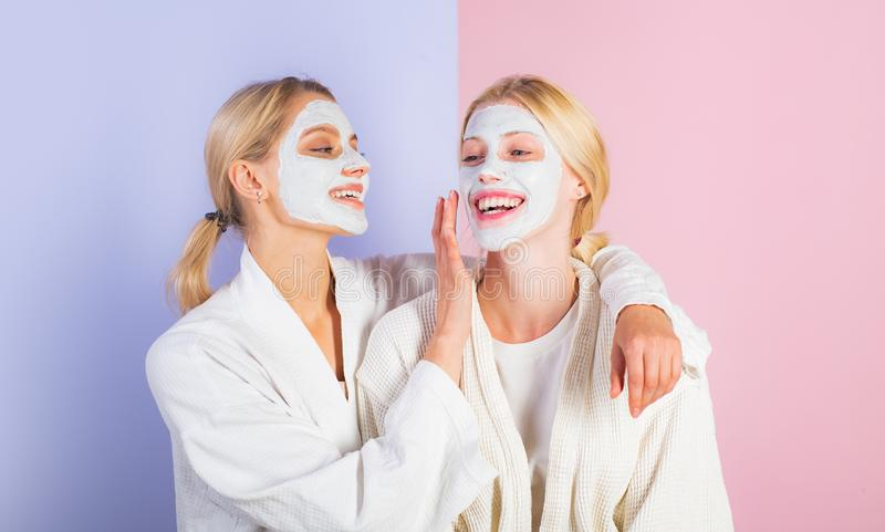 Girls Friends Sisters Making Clay Facial Mask  Anti Age Mask