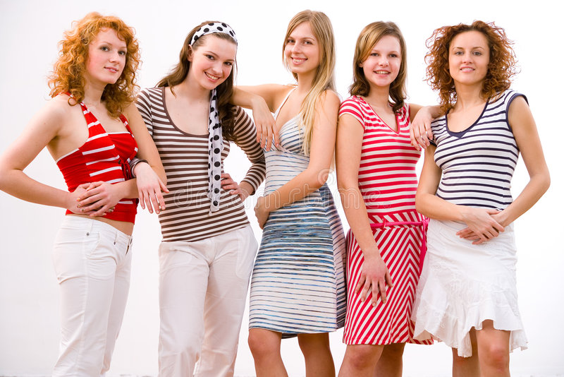 Girls, girls, girls stock images