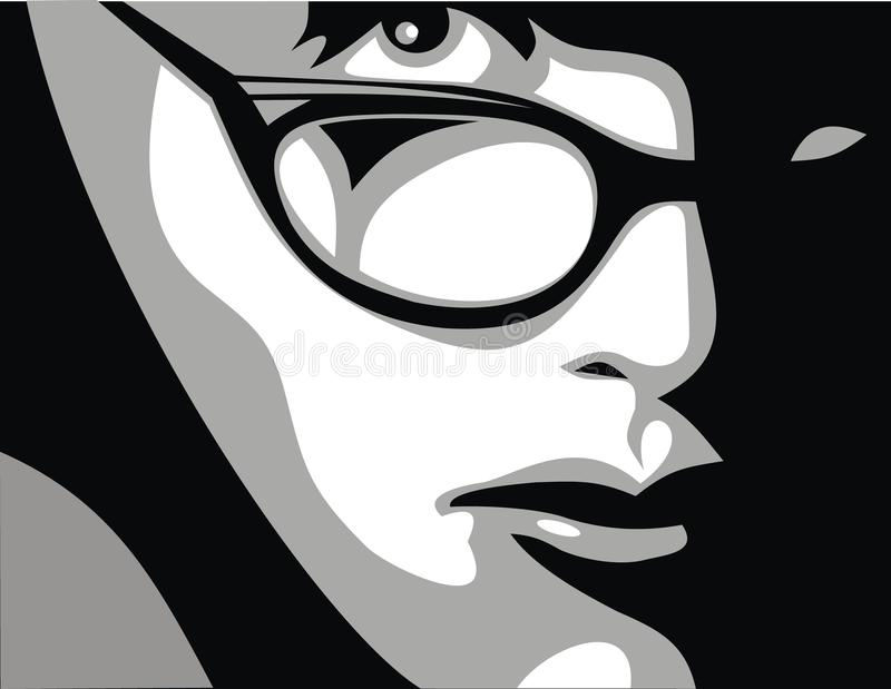 Girls and glasses royalty free illustration