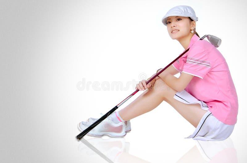 Girls golf stock photo