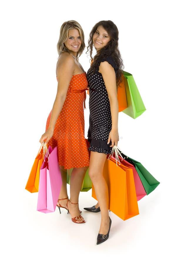 Girls Gone Shopping Royalty Free Stock Images