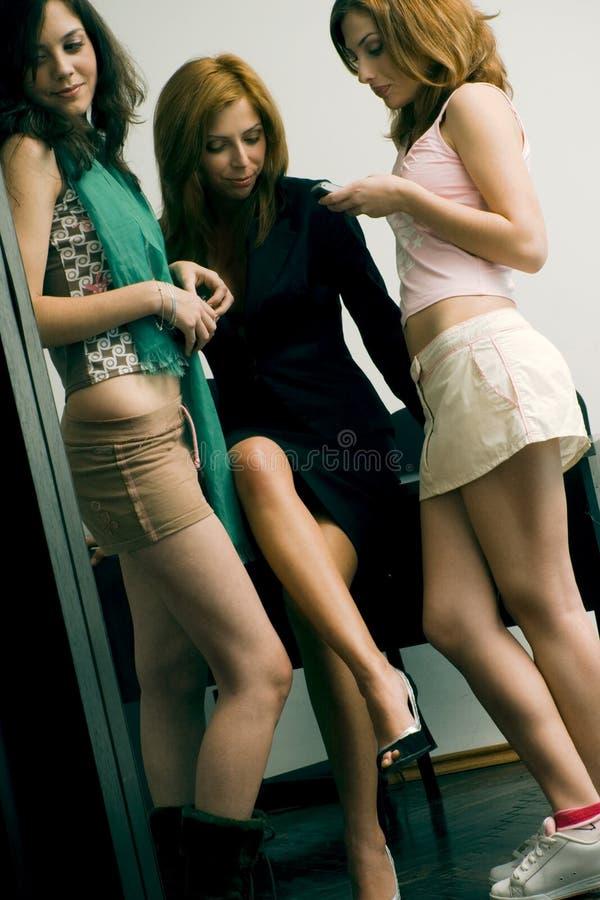 Girls' gossip royalty free stock image