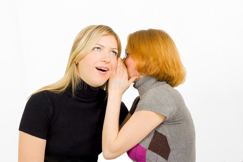 Girls gossip royalty free stock photo