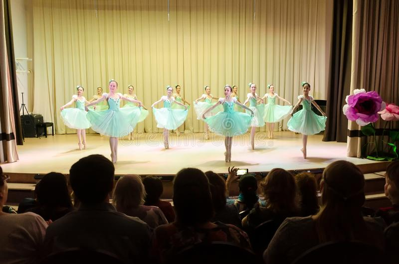 Girls Group Dancing On Stage Editorial Stock Photo - Image