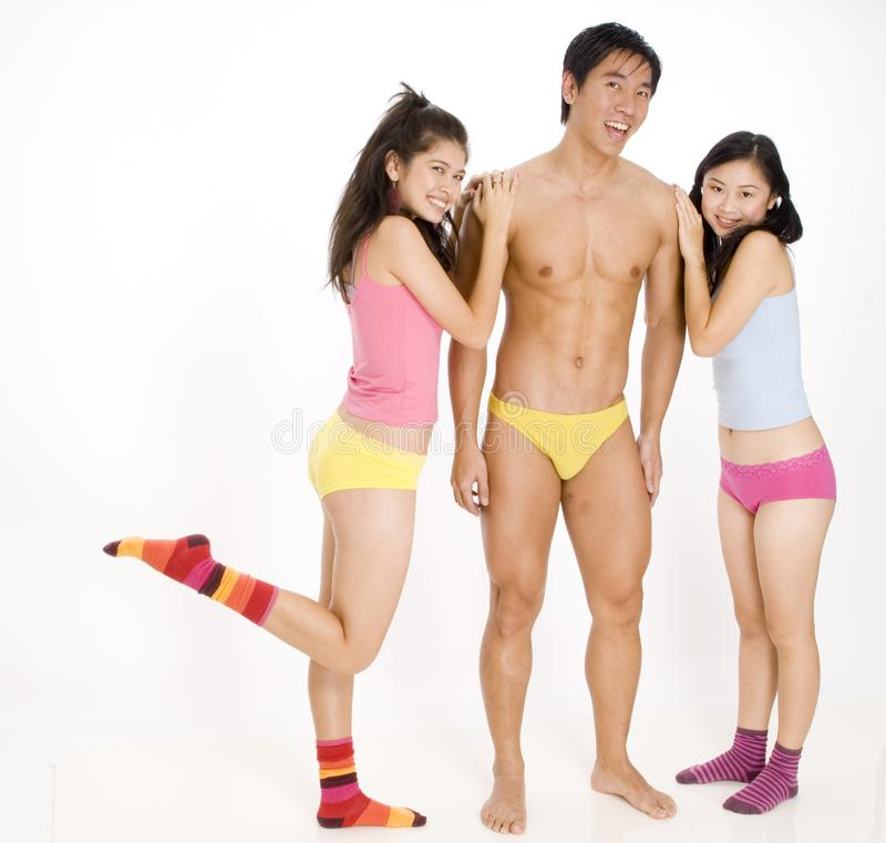 Download Girls and Guy stock photo. Image of ethnic, socks, funky - 836404