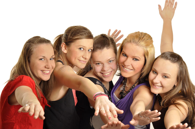 Download Girls Are Happy In The School Stock Image - Image of college, happy: 16879685