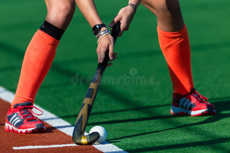 Download Girls Hockey Red Shoes Hands Stick Ball Editorial Stock Image - Image: 26644434