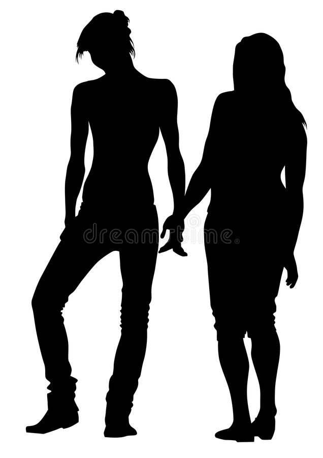 Girls Holding Hands Stock Photography