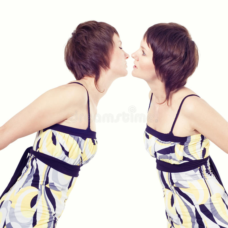 Download Girls kiss stock image. Image of love, desire, relate - 14309575