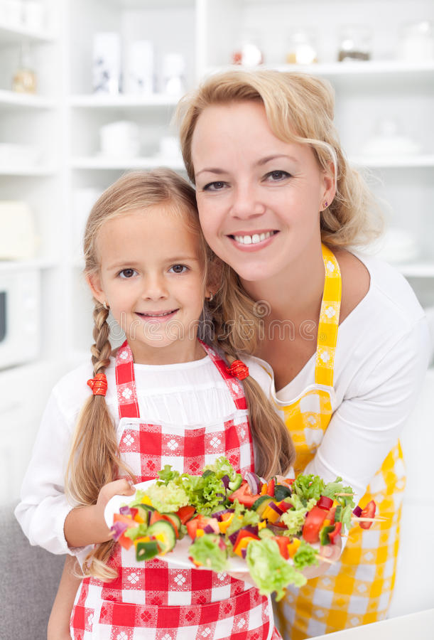 Download Girls in the kitchen stock photo. Image of food, enjoy - 21439516