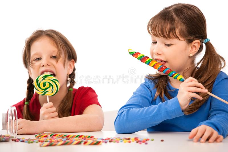 Download Girls with lollipops stock image. Image of european, females - 13227017