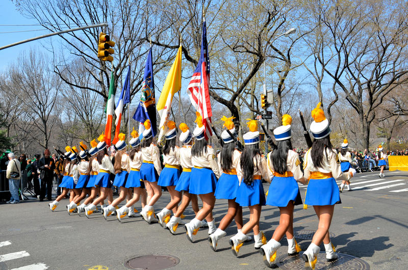 Download Girls Marching editorial stock image. Image of boys, central - 23893599