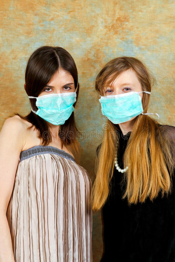Download Girls with masks stock photo. Image of prevention, girls - 17752036