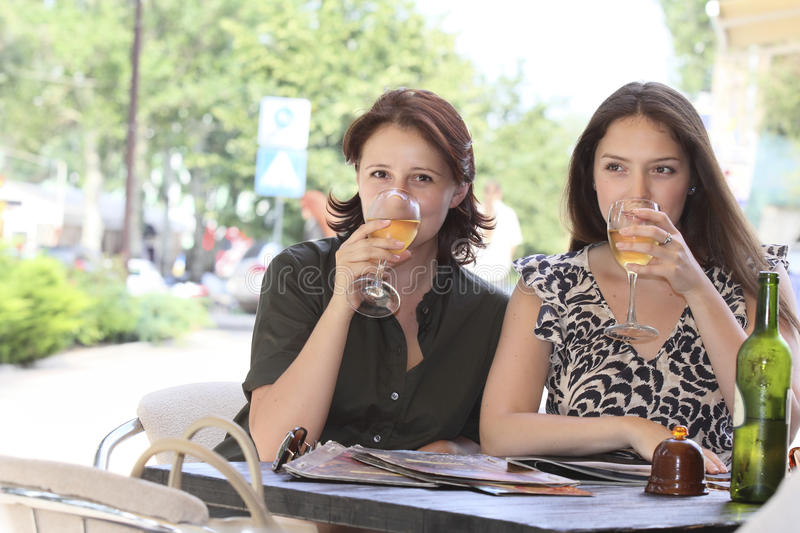 Download Girls met at lunch stock photo. Image of discussion, sufficient - 25789978