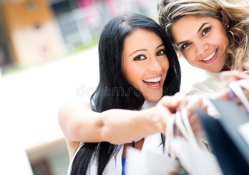 Download Girls out shopping stock image. Image of adults, attractive - 25188711