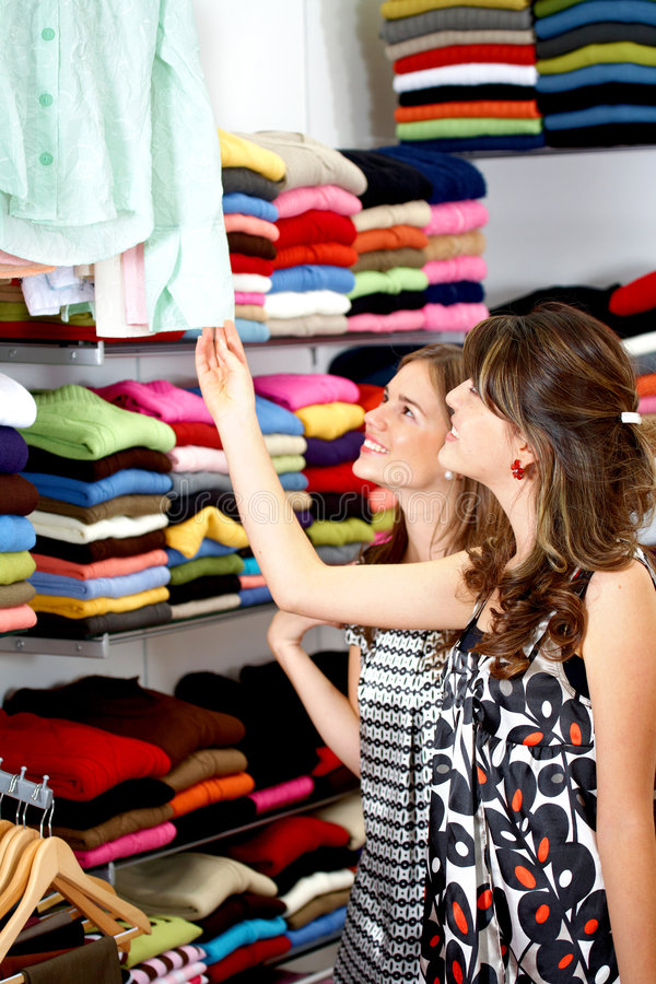 Download Girls out shopping stock image. Image of attractive, centre - 4110095