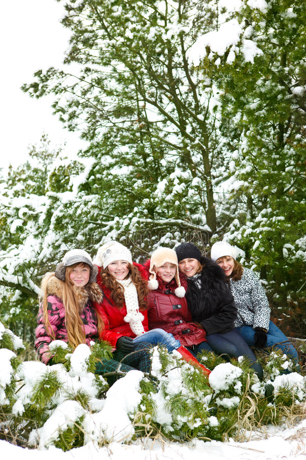Girls in the outdoor stock images