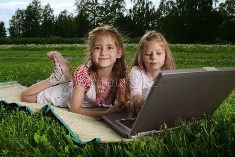 Girls outdoors stock photos