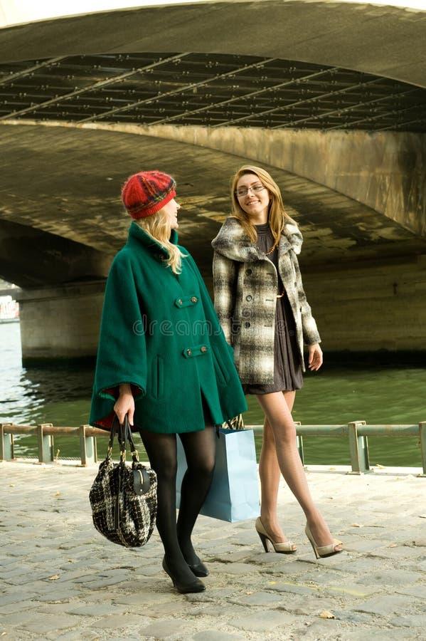 Girls In Paris stock image