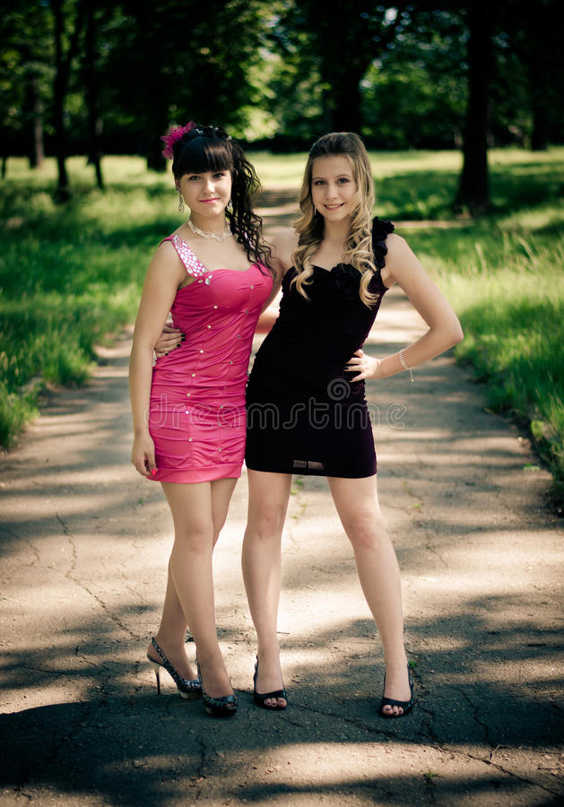Download Girls in a park stock photo. Image of prom, schoolgirl - 25533176