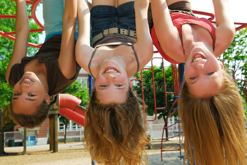 Download Girls in a park stock image. Image of hang, laugh, girl - 2627755