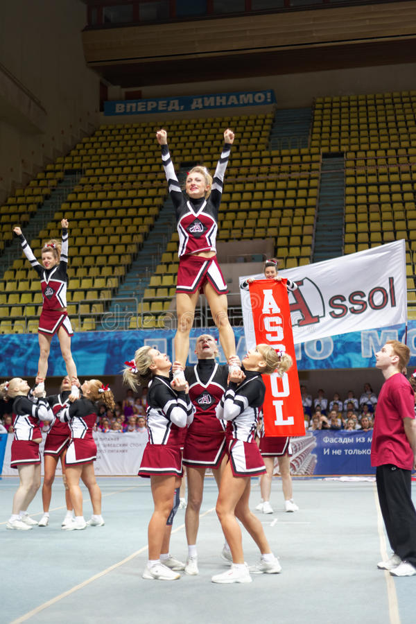 Download Girls-participants Of Cheerleaders Team Assol Editorial Stock Photo - Image: 30423273
