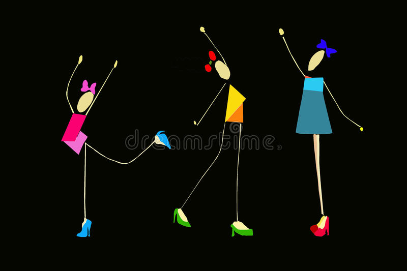 Girls Performing Gymnastic Royalty Free Stock Photography