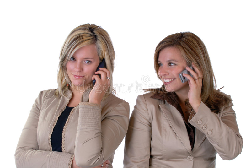 Girls On The Phone stock photo