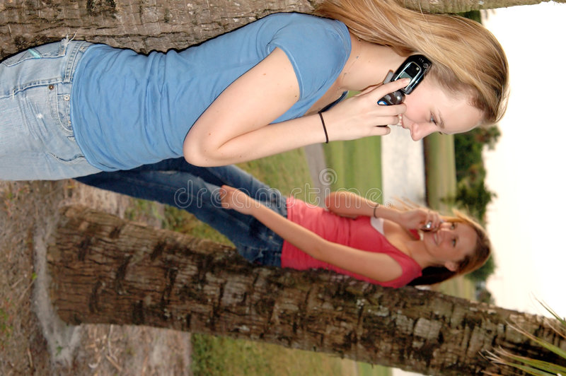 Download Girls On Phones Stock Images - Image: 1378804