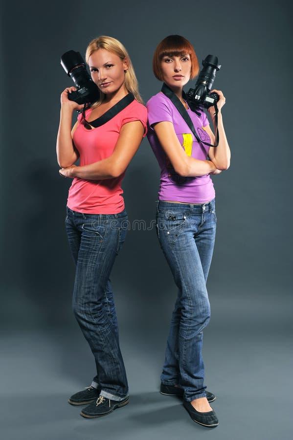 Download Girls photographers stock image. Image of studio, portrait - 16186313
