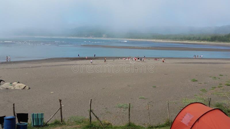 Girls& x27 ; plage de l'eau photo libre de droits